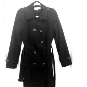 Black lined trench coat